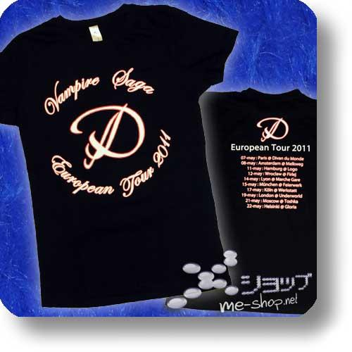 """D - VAMPIRE SAGA EU-Tour Original Girlie """"Logo"""" Größe L-0"""