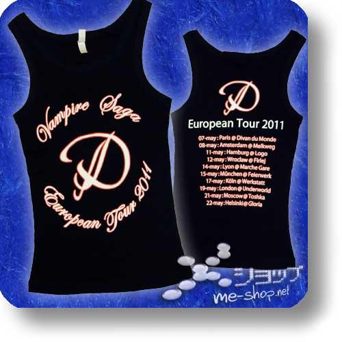 "D - VAMPIRE SAGA EU-Tour Original Tanktop ""Logo"" Größe S-0"