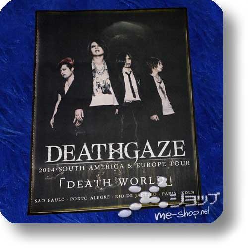 """DEATHGAZE - 2014 """"DEATH WORLD"""" Tour Original Poster (gefaltet)-0"""
