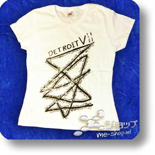 "DETROIT 7 (detroit7) - Original Girlie-Shirt ""white"" Größe M-0"