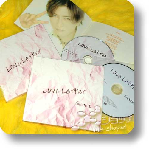 GACKT - Love Letter (ORIG.KOREA-PRESSUNG!) LIM.1.PR.+Bonus-DVD (Re!cycle)-0