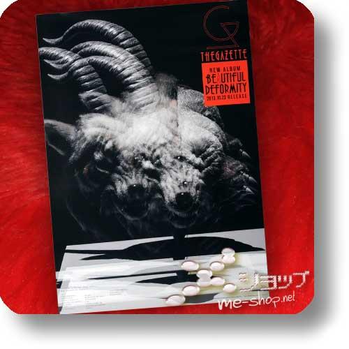 THE GAZETTE - BEAUTIFUL DEFORMITY lim. RELIEF-BOX CD+DVD +Bonus-Promoposter (gerollt)-0