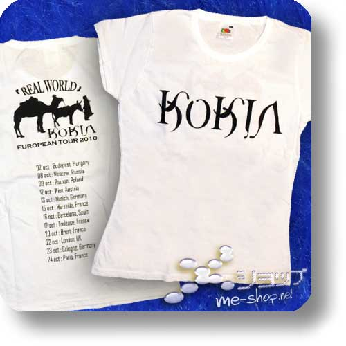 "KOKIA - REAL WORLD Orig. Girlie-Shirt ""white"" Größe S-0"