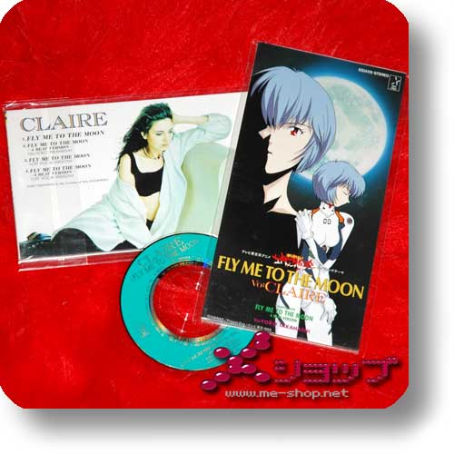 """NEON GENESIS EVANGELION - FLY ME TO THE MOON (CLAIRE / 3""""/8cm Single-CD Orig.1995!) (Re!cycle)-0"""