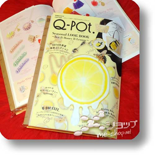 Q-POT. Seasonal LOOK BOOK ~Bee & Honey & Lemon~ 2014 Sping/Summer (inkl. original 2-way bag!) -0
