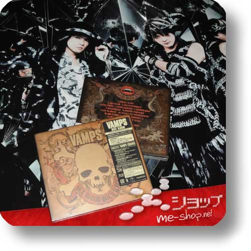 VAMPS - SEX BLOOD ROCK N' ROLL lim.CD+Blu-ray A-Type+ GEROLLTES PROMOPOSTER!-0