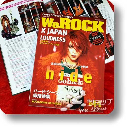 WeROCK Vol.044 (Jan.15) inkl.DVD! - hide, X JAPAN...-0