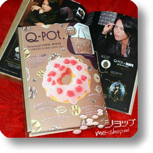 Q-POT. Seasonal LOOK BOOK ~COFFE & DOUGHNUTS~ Winter 2014/2015 (feat. VAMPS / inkl. original Big Tote Bag!) -0