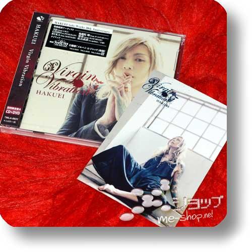 HAKUEI - Virgin Vibration LIM.CD+DVD A-Type (feat. Aiji/LM.C, Ruka/Nightmare, Gisho/Penicillin...)+Bonus-Fotokarte!-0
