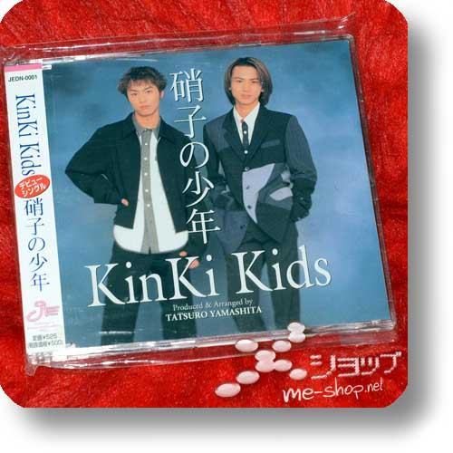 """KINKI KIDS - Glass no Shounen (1.Press 8cm/3"""" CD-Single / orig.1997!) (Re!cycle)-0"""