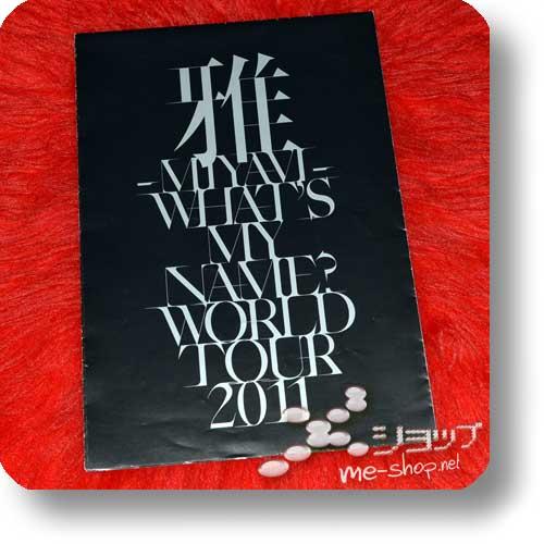 MIYAVI - WHAT'S MY NAME? WORLD TOUR 2011 Original Poster Tour Pamphlet (Re!cycle)-0