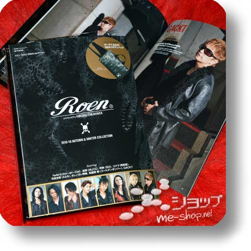 ROEN 2016-17 AUTUMN & WINTER COLLECTION 15th Anniversary (starring Shinya/Dir en grey, Tokie, Jun-ji, Hisashi/GLAY.. / inkl. 2-way Shoulder Bag!) Fashion-Magazin-0