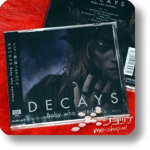 """DECAYS - Baby who wanders LIM.CD+DVD """"A-Type"""" +Bonus-LP sized Coverboard! (Die/Dir en grey) -18907"""