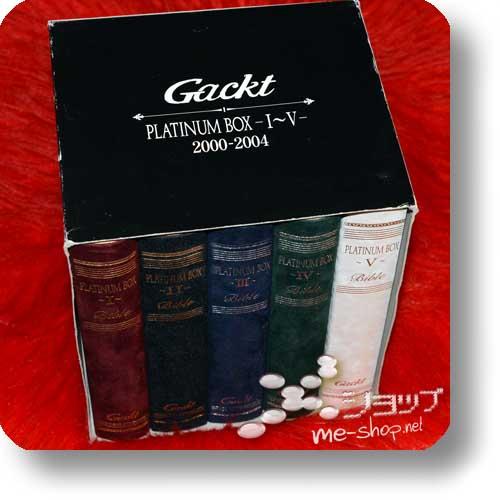 GACKT - Platinum Box - I~V - 2000-2004 (lim.Boxset CD+4DVD+2VHS) (Re!cycle)-20962