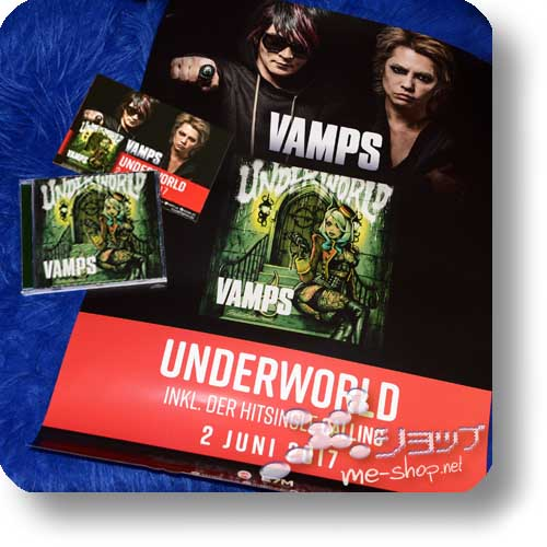 VAMPS - UNDERWORLD (EU-Pressung) +GEROLLTES PROMOPOSTER +POSTKARTE!-0