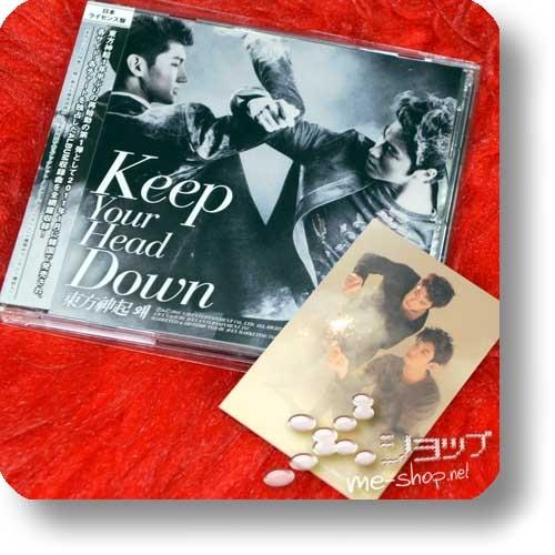 TOHOSHINKI - Keep Your Head Down (Jap.Edition lim.CD+DVD inkl.Bonustracks+Tradingcard!) (Re!cycle)-0