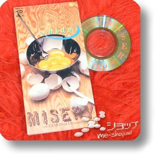 """hide - MISERY (3""""/8cm-Single-CD / Orig.1996!) (Re!cycle)-22777"""