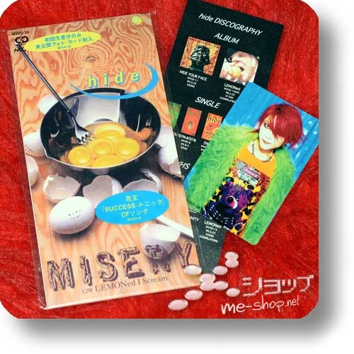 "hide - MISERY (lim.1.Press inkl.Tradingcard! / 3""/8cm-Single-CD / Orig.1996!) (Re!cycle)-0"