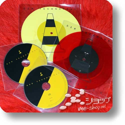 "DER TECHNOKRAT - RUCKZUCK (2x7""-Single Red Vinyl+Yellow Vinyl+2xCD double package) feat. Ralf Dörper, Richard Kirk-0"