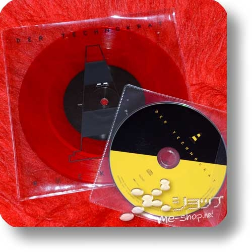 "DER TECHNOKRAT - RUCKZUCK (Mailorder only 7""-Single Red Vinyl+CD / lim.100!) feat. Ralf Dörper, Richard Kirk-0"