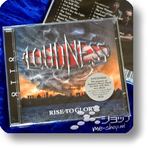 LOUDNESS - RISE TO GLORY -8II8- (2CD inkl.Bonustrack+SAMSARA FLIGHT! / Deutsche Pressung)-0