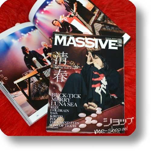 MASSIVE Vol.29 (März 2018) KIYOHARU, lynch., coldrain, BUCK-TICK, MERRY, LUNA SEA...-0