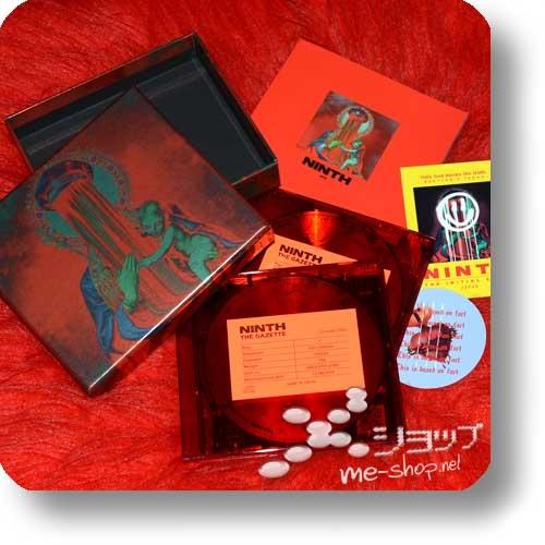 THE GAZETTE - NINTH (lim.Box A / CD+Live-Blu-ray) +Bonus-Fotobutton / Member's Photo Badge!-24331