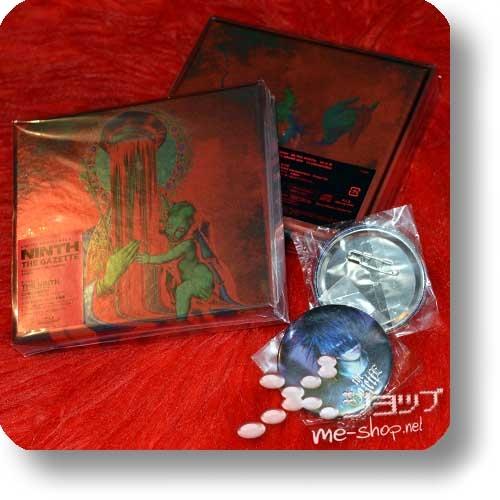 THE GAZETTE - NINTH (lim.Box A / CD+Live-Blu-ray) +Bonus-Fotobutton / Member's Photo Badge!-0