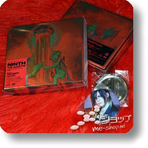 THE GAZETTE - NINTH (lim.Box B / CD+DVD+Live-DVD) +Bonus-Fotobutton / Member's Photo Badge!-0
