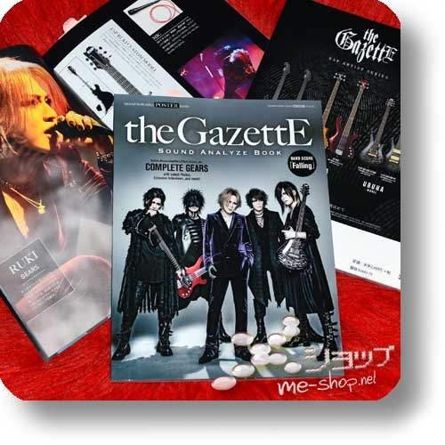 GiGS Presents: the GazettE Sound Analyze Book (inkl.Poster+Bandscore!)-0