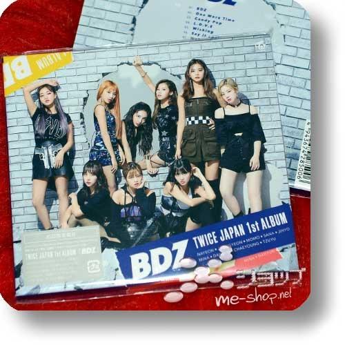 "TWICE - BDZ (Japan 1st Album / lim.CD+DVD ""B-Type"" inkl.Tradingcard) +Bonus-Promoposter!-24864"