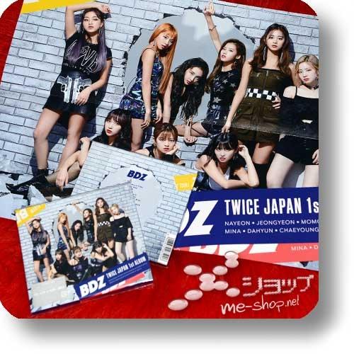 "TWICE - BDZ (Japan 1st Album / lim.CD+DVD ""B-Type"" inkl.Tradingcard) +Bonus-Promoposter!-0"