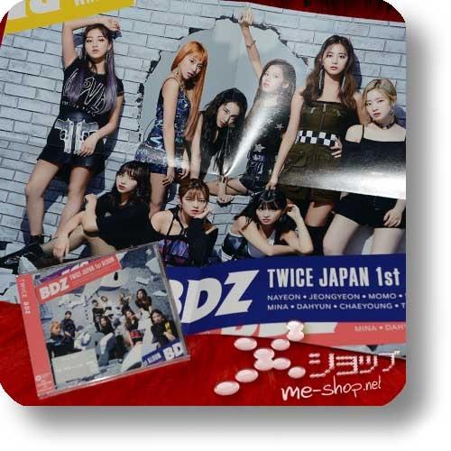 TWICE - BDZ (Japan 1st Album / 1.Press inkl.Tradingcard) +Bonus-Promoposter!-0