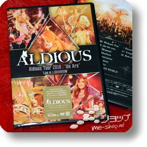 "ALDIOUS - Tour 2018 ""We are"" Live at LIQUIDROOM (DVD)-0"