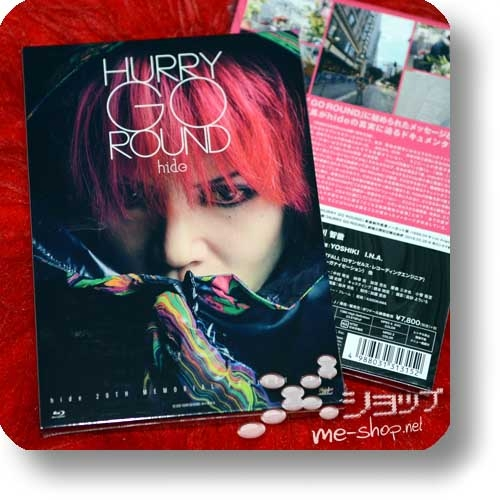 hide - HURRY GO ROUND (2018 Project Movie feat. YOSHIKI, I.N.A / lim.1.Press Digipak BD+Bonus-DVD)-0