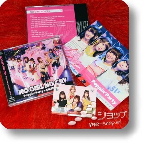 POPPIN' PARTY × SILENT SIREN - NO GIRL NO CRY (lim.CD+Blu-ray) +Bonus-Fotokarte+Tradingcard!-0