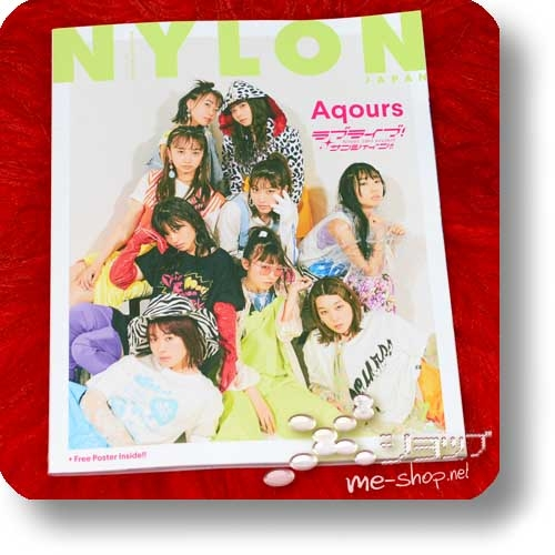 NYLON JAPAN No. 170 SPECIAL EDITION (Juli 2018) Love Live! Sunshine!! Aqours-Special!, Blackpink... inkl.Aqours-Poster! (Re!cycle)-0
