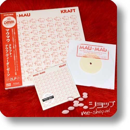"""MAU MAU - KRAFT + AUF WIEDERSEHEN (lim.Package CD+180g White Vinyl 2LP Reissue/remastered lim./num.) +exklusive Bonus-7""""!-0"""