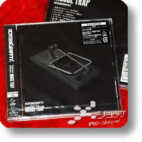 ROTTENGRAFFTY - Tribute Album MOUSE TRAP (lim.CD+Live-CD / MUCC, coldrain, Kiyoharu, Dragon Ash, AA=...)-0