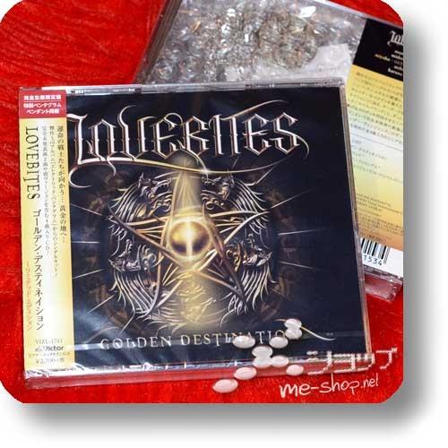 LOVEBITES - GOLDEN DESTINATION (lim.CD+Pentagram Pendant)-0