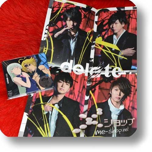 SID - delete (lim.CD+DVD Anime ban / Nanatsu no Taizai) +Bonus-Promoposter!-0