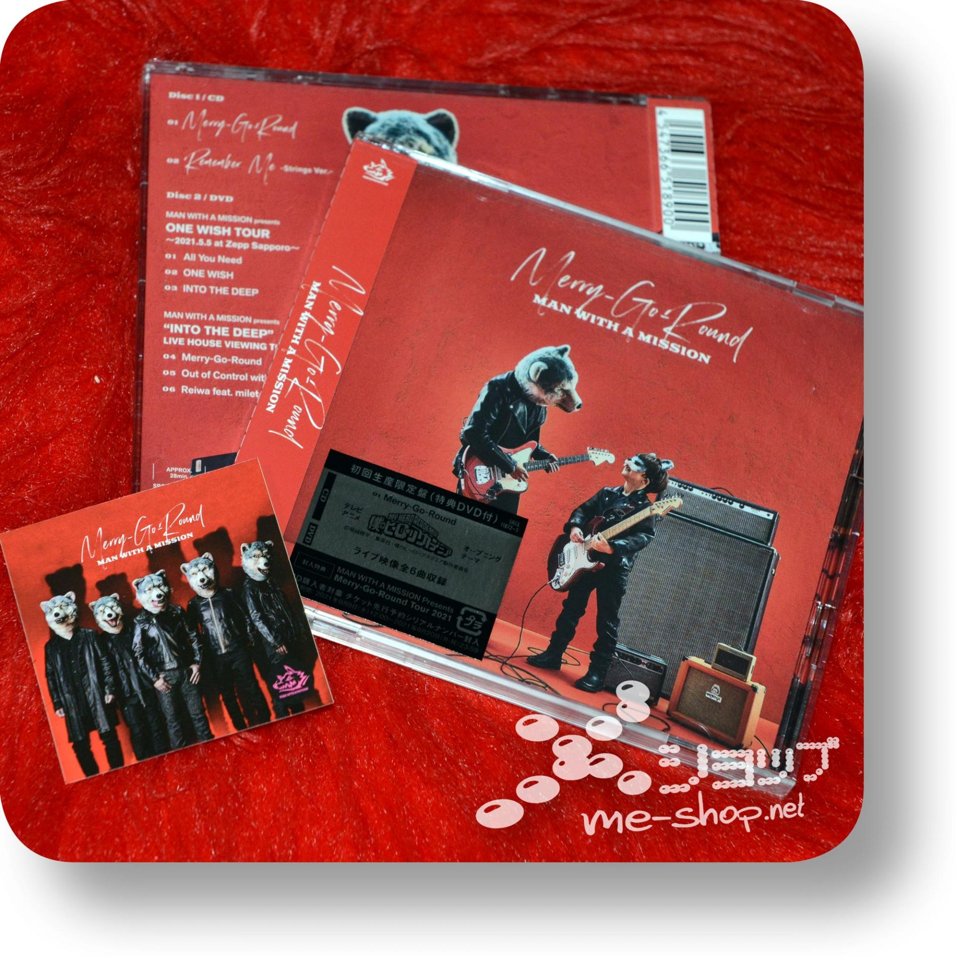 man with a mission merry cd+dvd+bonus