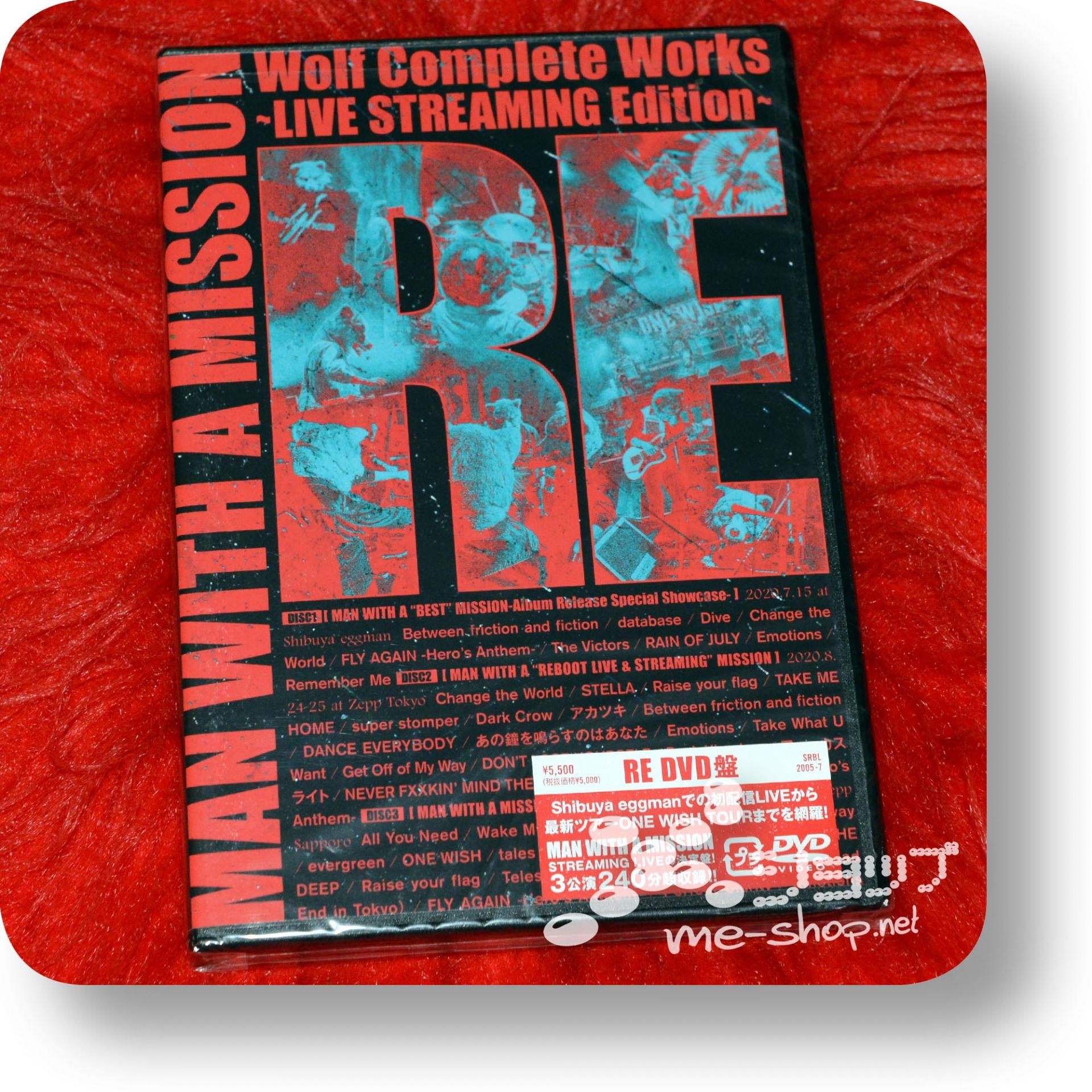 man with a mission wolf complete works re dvd